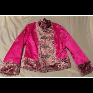 Size Small Asian Inspired Pink Jacket Unique